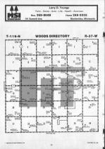 Woods T119N-R37W, Chippewa County 1986 Published by Farm and Home Publishers, LTD